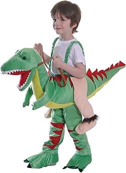 Childs Travis Ride On Dinosaur Costume Lights /& Sound Boys Animal Fancy Dress