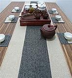 Sucastle® 35x250cm tissu Chemin de Table Cuisine Imperméable Décoration en Aspect naturel