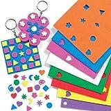 Großpackung Mini-Moosgummi-Aufkleber - für Kinder zum Basteln und Dekorieren - 1200 Stück