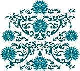 Indigos 4051719903089 Wandtattoo MD049 Tribal Lotusblüte 60 x 53 cm, bunt farbig