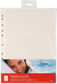 hama 7975  Fotoalbum Blätter Albumblätter A4  mit Schutzblatt weiß 10 Blatt