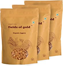 Pristine Fields Of Gold  Organic Jaggery, 500g (Pack of 3)