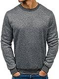 BOLF Herren Sweatshirt Langarmshirt Pullover T&C Star TC21 Anthrazit XXL [1A1]