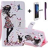 """LG Nexus 5X Wallet funda [con libre Protector de pantalla de vidrio templado + 1lápiz capacitivo] 'Premium suave portátil cartera de piel sintética diseño Mandala flores sol flor Diseño funda carcasa función titular de la tarjeta ranura y correa de muñeca–Funda fina funda protectora teléfono móvil para LG Nexus 5X 5.2. """", color N- Feeding Girl 4"""