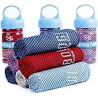 Bogi toalla fresca para una frescura instantánea 100 cm x 30 cm – suave filtro de fibra de bambú – uso como bufanda, diadema, pulsera, bandana para yoga, hacer ejercicio, gimnasio, viajar, escalar, practicar deportes como golf, fútbol, alivio de calor
