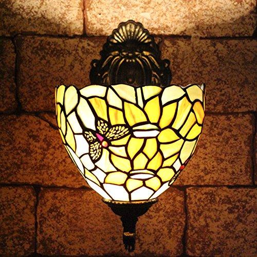 TOYM 8 pouces vitraux Tiffany et avant tournesols jardin de tournesol reflètent Lampe murale classique