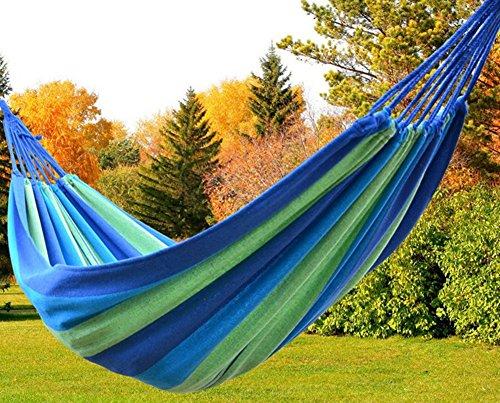 Outdoor Garden Hängematte Baumwolle Soft Camping Hängematte mit Rucksack, Best für Backyard, Veranda, Reisen, Camping.
