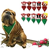 X-Mas Halstuch Weihnachtstuch Weihnachtskostüm Tuch für Hunde / Katzen Grün XS