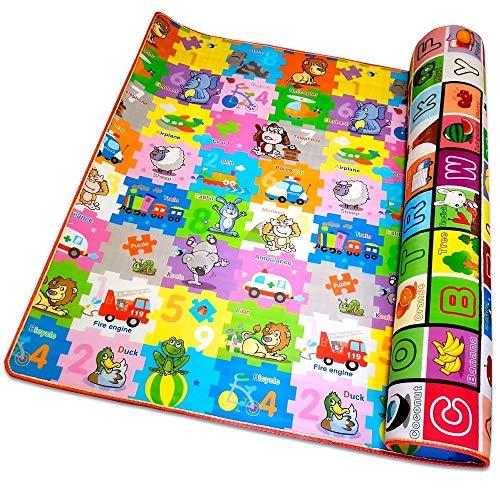 Tappeto bambini educativo, tappeto gioco bambini di design, tappeto neonato ideato per stimolare la creatività e l' apprendimento, gioco prima infanzia marcato ce, tappeto per bambini 200x180x0.8 cm