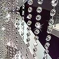 LnLyin Kristall Perlen Ketten, Auslöser Acryl Perlen Girlande Vorhang Strähnen, achteckig Perlen Kronleuchter Kette, Perlen String Rolle für DIY Hochzeit Weihnachtsschmuck Girlande von LnLyin auf Du und dein Garten