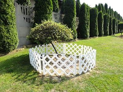 3,5 m weißßer Gartenzaun Zierzaun Jägerzaun weiss 45 cm Zaun Schmuckzaun Garten von BJ bei Du und dein Garten