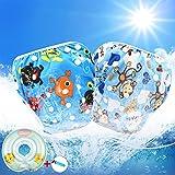 3-in-1 Kit, Pannolini nuoto riutilizzabili per bambini, Swimdiaper, Taglia regolabile (0-3 anni) & Baby Nuoto Anello (3-12 Mesi), Ideale per piscina, mare (G -Set, 0-3 anni)