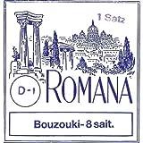 Romana Saite für Bouzouki Griechische Stimmung.<p><br>- Stahl versilbert. Mit Schlinge<p><br>-