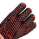 2 Stück Profi-Handschuh für Grill & Ofen Grillhandschuhe Ofenhandschuhe Hitzeschutzhandschuh
