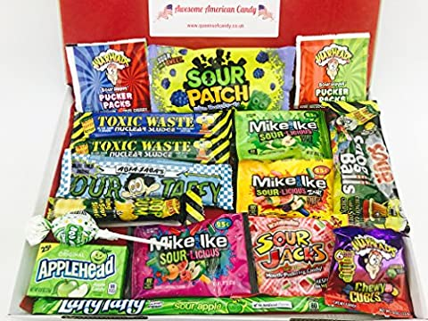 American Sour Hamper - Packed full of American Sour Candy, including, Toxic Waste, Laffy Taffy and Warheads NL306