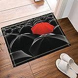 gohebe rot unter Schwarz Regenschirm Teppiche rutschhemmend Boden Eingänge Outdoor Innen vorne Fußmatte, 60x 40cm Badvorleger Badematte Bad Teppiche