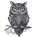 COKOHAPPY Grande Temporanei Temporaneo Tatuaggi Tattoo Gufo Civetta Celtic immagine