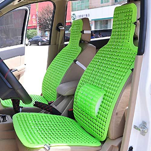 FUXINDP 2 Kits Für Auto Kunststoff Lüftung Kissen Und Lüftung Van Format Pkw Sitzkissen Einzelstück Sommer Cool Pad Kissen (Beheizte Autositze Kit)