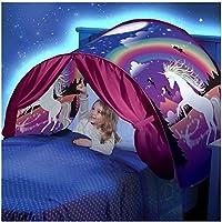Simplefirst Tente étoile Pliable pour Enfants Pop Up Tente de lit Fairy Playhouse Tente de rêve Licorne Meilleure Tente de décoration pour Enfants (Licorne)