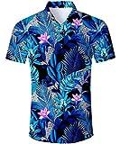 TUONROAD Hawaii Hemd Herren Kurzarm,Herren Sommerhemd Hawaiihemd Freizeit Hemd Besonders FüR Reise Urlaub