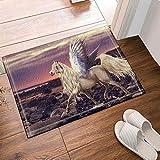 Unicornio Cortina de ducha Criaturas míticas Angel Pegasus Horse Tales Of Legendia Alfombra antideslizante Piso de