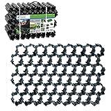 20 Stück (4,4 m²) Rasengitter Paddockplatte Reitplatzmatten Rasenmatten Rasenwaben Paddock Kunststoff Rasensteine schwarz