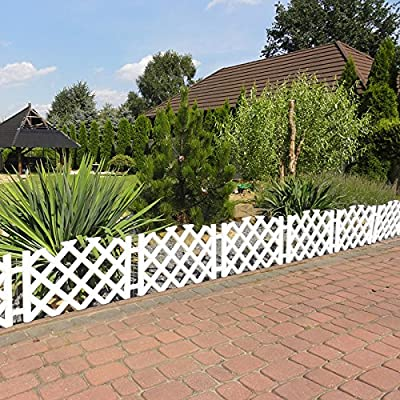 Gartenzaun 3,5 m Zierzaun Friesenzaun Lattenzaun Gartenpalisade Beeteinfassung von toys4u auf Du und dein Garten