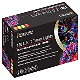 70340 Christmas Workshop Benross 100 Multi Colour LED Battery Operated Timer Fairy Lights, Indoor & Outdoor String Light With 8 Modes, Waterproof for Garden Party Wedding, Bedroom