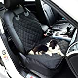 Fluffy's Luxurious Waterproof Non-Slip Oxford Fabric Pet Front Seat Cover Dog Cat Car Mat for Truck Carrying Puppy…