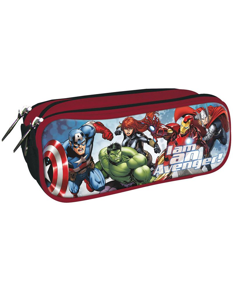 LOS Vengadores Marvel Estuche portatodo con Triple Cremallera Bolsillo