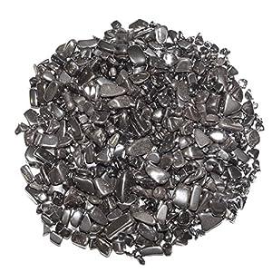 Hämatit 200 Gramm mini Edelsteine Trommelsteine Entlade Steine Größe ca. 4 – 8 mm.(3987)