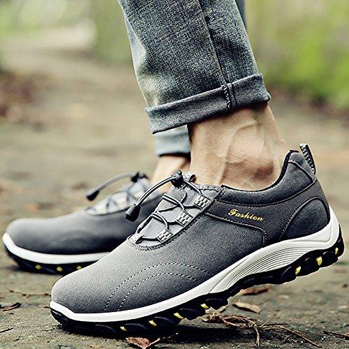 Chaussures Homme Randonnée Marche Respirant Chaussures de Randonnée Basses Homme Gris Foncé