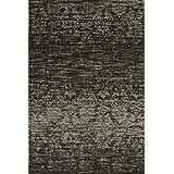 """Sona-Lux Alfombra de diseño moderno tejido plano grafitoo """"Seleccionar el tamaño"""" 200 x 290 cm"""