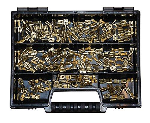 Preisvergleich Produktbild Sortiment mit Flachsteckhülsen 6, 3x0, 8 DIN 46340 T3 Form A Industrie KFZ LKW