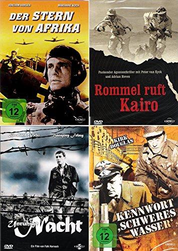 History Collection | Rommel ruft Kairo + Unruhige Nacht + Der Stern von Afrika + Kennwort: Schweres Wasser [4-DVD]