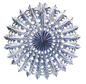 Ciao-Guirnalda Maxi Rueda Lusso, diámetro 75cm), metalizado azul