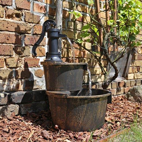 Fontana a cascata da esterno legno imitazione dsb1 per for Fontane da balcone