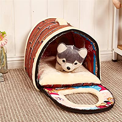 Weare Home Handbag Shape Washable Pets Dog Cat Puppy Bed Warm House with a Removable Cushion produced by Weare Home - quick delivery from UK.