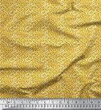 Soimoi Gold Kunstseide Stoff Filigran Damast Stoff