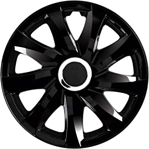 Wheel Trims Set 4 15 PEUGEOT 407 04- Covers Valve Caps /& Ties