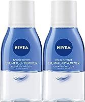 نيفا، منظف الوجه، مزيل مكياج العيون، تأثير مزدوج، حساسة، 2 x 125 مل