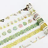 JSGDJD Klebeband 10 Stk/pack Flower House Vergoldungen dekorative Postkarte Washi Tape Klebeband DIY Scrapbooking Sticker Label Abdeckband - 10 Stk./Pack