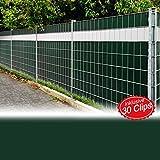 Sichtschutzfolie grün 2er Set = 70m Sichtschutz Sichtschutzfolie Windschutz Doppelstabmatten Zaun Blickdicht