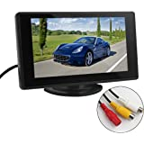 BW Car Parking Assistance Monitor 4.3 inch TFT LCD Car Monitor Car Rearview Monitor with LED Backlight Display for Vehicle Backup Cameras