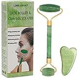 Rodillo de jade, masajeador facial de rodillo de jade natural, rodillo facial de jade natural, rodillo antienvejecimiento, ma