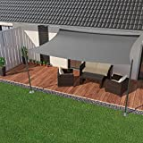 IBIZSAIL Premium Sonnensegel - Viereck (rechteckig) - 300 x 200 cm - GRAU - wasserabweisend (inkl. Spannseilen)