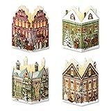 Coppenrath Adventskalender 'Mini Haus Laternen' 4Stück mit Umschlägen