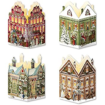 coppenrath advent calendar 39 mini house lanterns 39 pack of 4. Black Bedroom Furniture Sets. Home Design Ideas