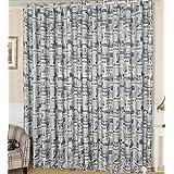 yiyida Windows Tratamiento cortinas opacas con ojales–Periódico patrón con aislante térmico parte superior cortinas para dormitorio sala autocaravanas, Set de 2, anchura 100cm x altura 200cm, Gris, 1.4m width x2.4m Drop