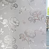OstepDecor 6 Sizes 17.7-by-78.7-Inch Flower Static Frosted Privacy Window Films (1.5Ft x 6.5Ft.)